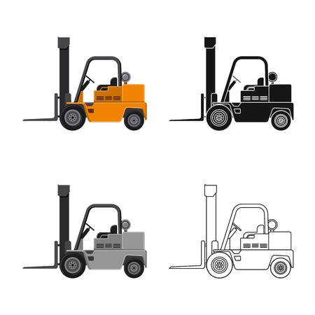 Illustration vectorielle du symbole de construction et de construction. Collection d'icône de vecteur de construction et de machines pour le stock. Vecteurs