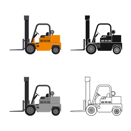 Vector illustration of build and construction symbol. Collection of build and machinery vector icon for stock. Ilustracje wektorowe