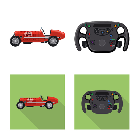 Vector design of car and rally icon. Collection of car and race vector icon for stock. 写真素材 - 111219599