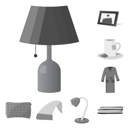 Vector design of dreams and night icon. Collection of dreams and bedroom stock vector illustration. Ilustração