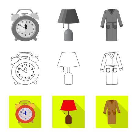 Vector illustration of dreams and night sign. Collection of dreams and bedroom vector icon for stock. Ilustração