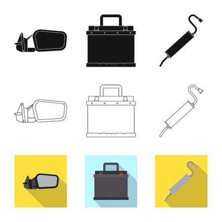 Isolated object of auto and part icon. Collection of auto and car vector icon for stock.
