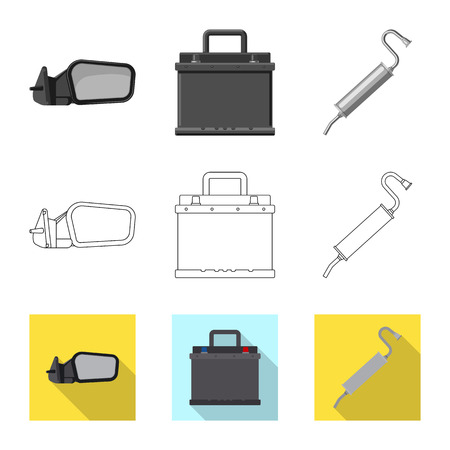 Isolated object of auto and part symbol. Set of auto and car stock vector illustration. 向量圖像