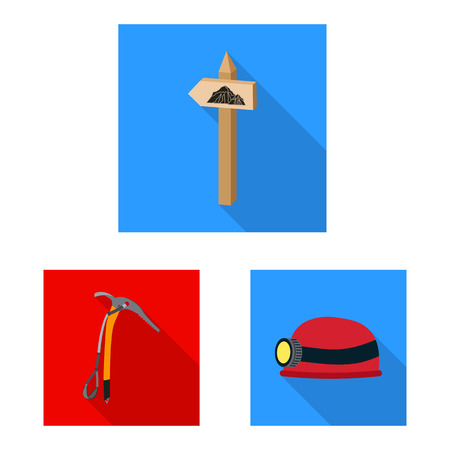 bitmap illustration of mountaineering and peak sign. Collection of mountaineering and camp bitmap icon for stock. Stock Photo