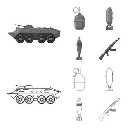 bitmap design of weapon and gun symbol. Set of weapon and army stock bitmap illustration.