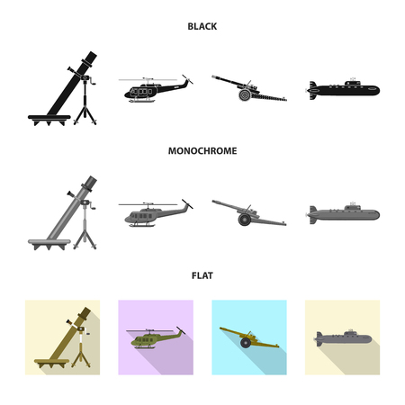 bitmap illustration of weapon and gun logo. Collection of weapon and army stock symbol for web.