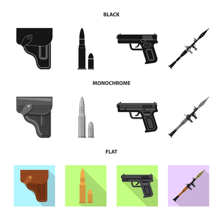bitmap illustration of weapon and gun icon. Set of weapon and army stock symbol for web.