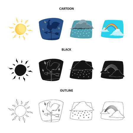 Isolated object of weather and climate symbol. Set of weather and cloud vector icon for stock.
