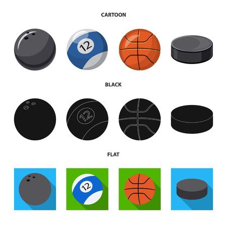 Vector illustration of sport and ball logo. Collection of sport and athletic stock vector illustration. Illustration