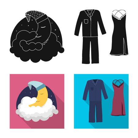 bitmap design of dreams and night symbol. Set of dreams and bedroom stock bitmap illustration.