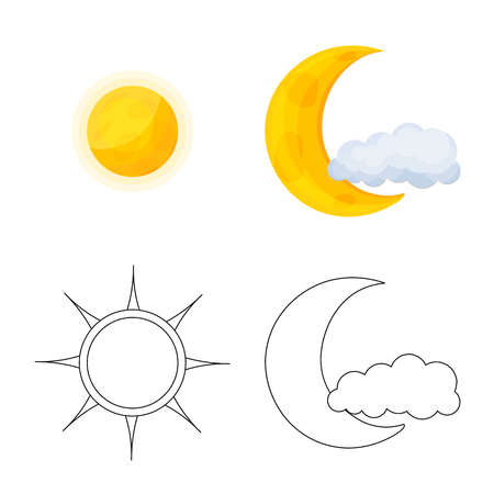 Isolated object of weather and climate symbol. Set of weather and cloud bitmap icon for stock.
