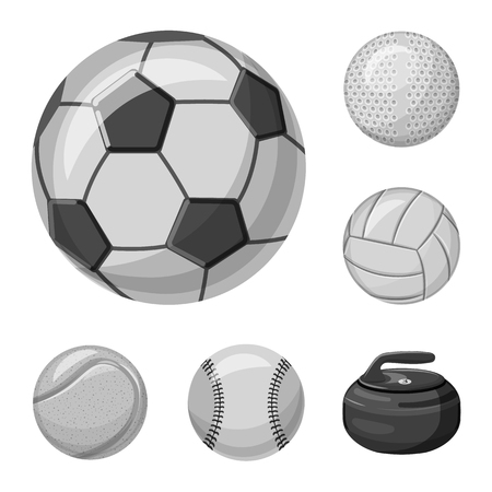 bitmap design of sport and ball sign. Set of sport and athletic bitmap icon for stock. Stock Photo