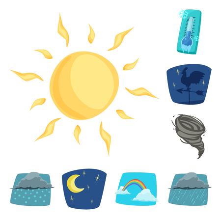 conception bitmap du symbole météorologique et climatique. Collection d'icône bitmap météo et nuage pour le stock.