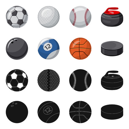 bitmap design of sport and ball icon. Set of sport and athletic bitmap icon for stock.