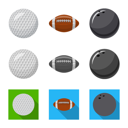 bitmap design of sport and ball icon. Set of sport and athletic stock symbol for web. Stock Photo