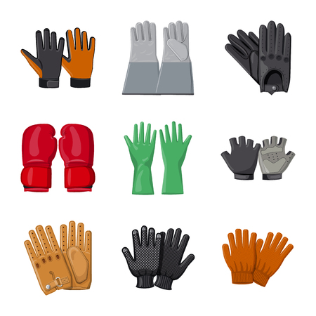 bitmap design of glove and winter symbol. Collection of glove and equipment bitmap icon for stock.