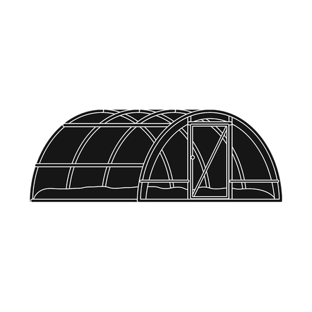 bitmap design of greenhouse and plant sign. Collection of greenhouse and garden bitmap icon for stock.