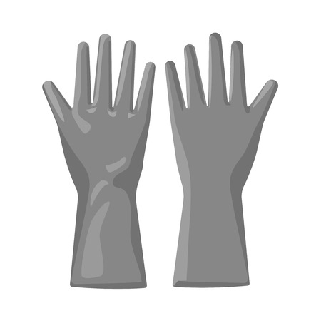 Isolated object of glove and winter sign. Collection of glove and equipment bitmap icon for stock. Stock Photo