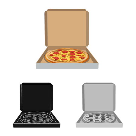 Isolated object of pizza and food sign. Collection of pizza and italy bitmap icon for stock.