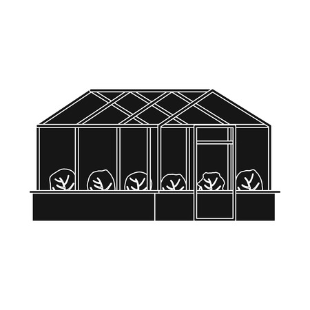 bitmap design of greenhouse and plant symbol. Set of greenhouse and garden stock symbol for web. Stock Photo