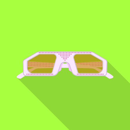 bitmap illustration of glasses and sunglasses symbol. Collection of glasses and accessory stock bitmap illustration.