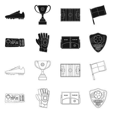 Isolated object of soccer and gear icon. Set of soccer and tournament stock vector illustration. Vectores