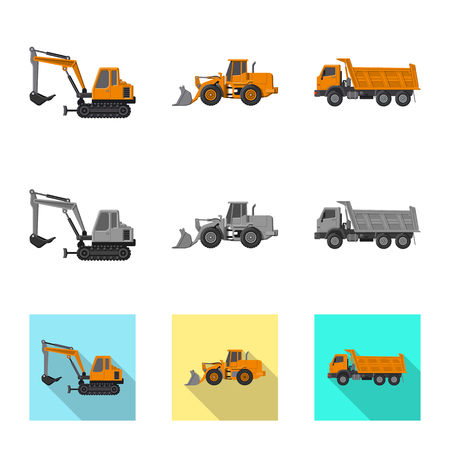 Vector illustration of build and construction sign. Collection of build and machinery vector icon for stock.