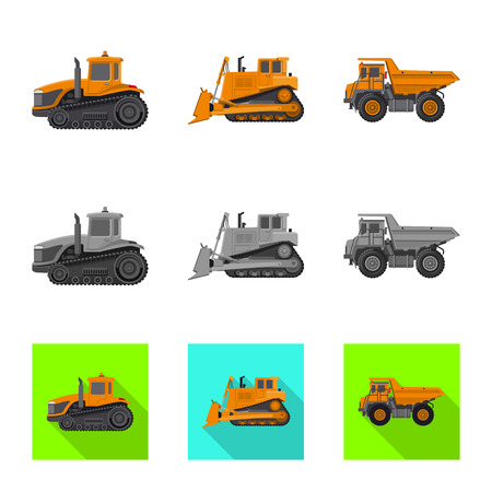 Vector illustration of build and construction icon. Set of build and machinery stock symbol for web. Illustration