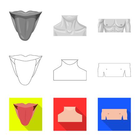 Vector illustration of human and part sign. Set of human and woman stock symbol for web. Illusztráció