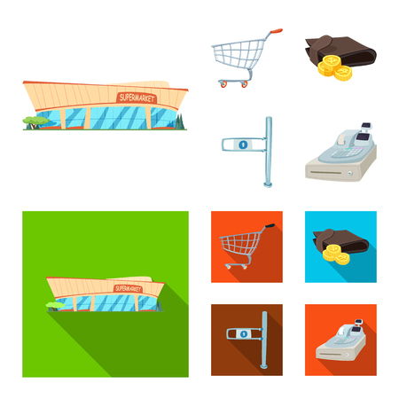 Vector design of food and drink icon. Set of food and store stock symbol for web.