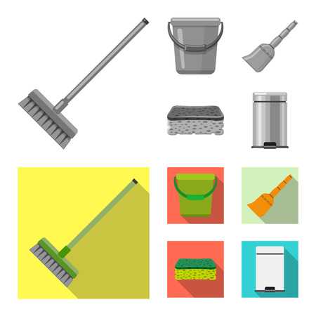 Isolated object of cleaning and service logo. Collection of cleaning and household stock vector illustration.