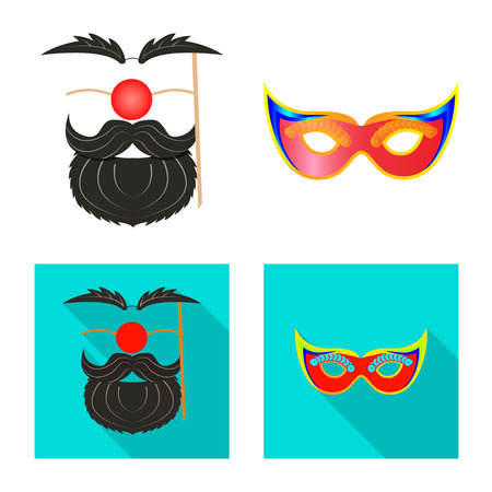 Vector design of party and birthday logo. Set of party and celebration vector icon for stock. 일러스트