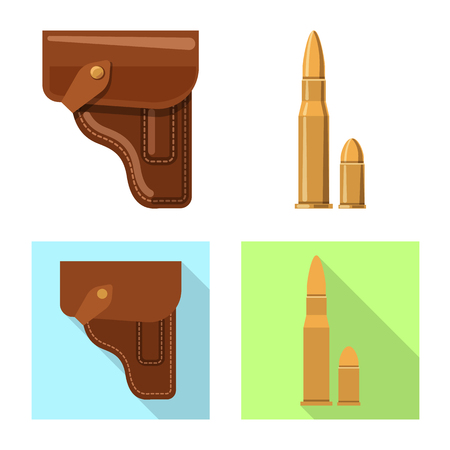 Vector design of weapon and gun symbol. Collection of weapon and army stock vector illustration.