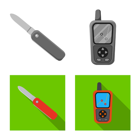 Isolated object of mountaineering and peak symbol. Collection of mountaineering and camp vector icon for stock.