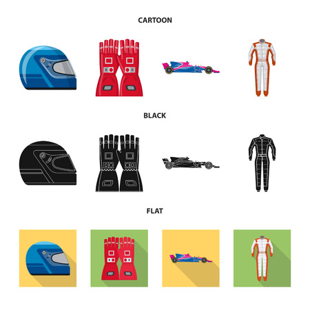 Isolated object of car and rally icon. Collection of car and race vector icon for stock.  イラスト・ベクター素材