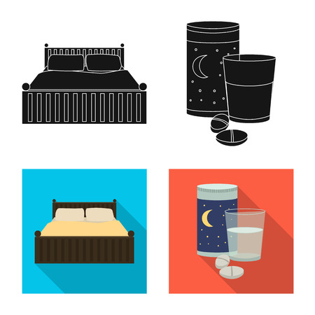 bitmap design of dreams and night icon. Set of dreams and bedroom stock bitmap illustration.