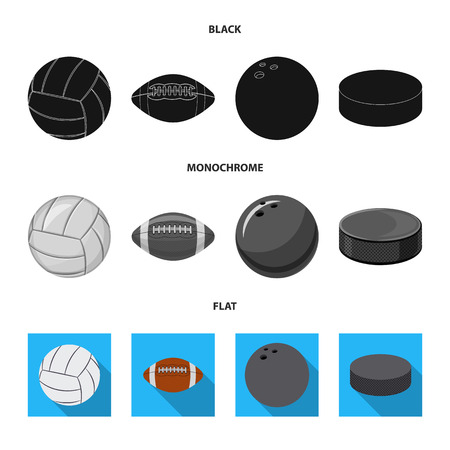 Isolated object of sport and ball symbol. Set of sport and athletic bitmap icon for stock. Stock Photo