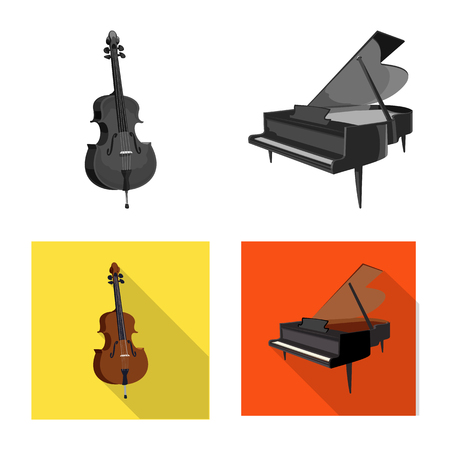 Isolated object of music and tune icon. Set of music and tool stock vector illustration. Banque d'images - 111879000