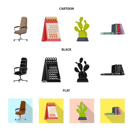 Isolated object of furniture and work symbol. Set of furniture and home vector icon for stock. Vectores