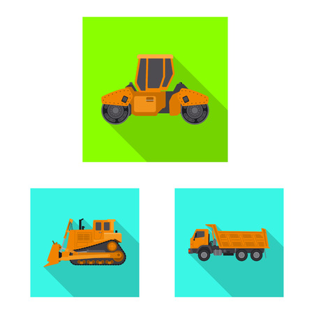 bitmap illustration of build and construction icon. Collection of build and machinery stock bitmap illustration. Stock Photo