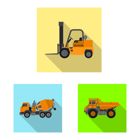 bitmap illustration of build and construction icon. Set of build and machinery stock symbol for web. Stock Photo