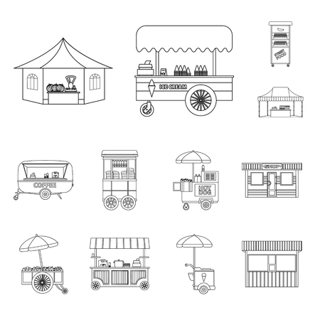 bitmap design of market and exterior symbol. Set of market and food bitmap icon for stock.