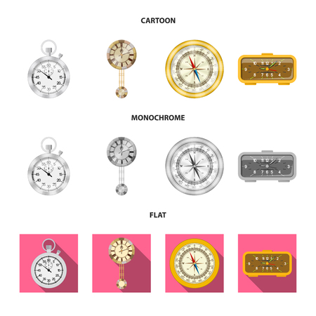 bitmap design of clock and time icon. Collection of clock and circle stock bitmap illustration.