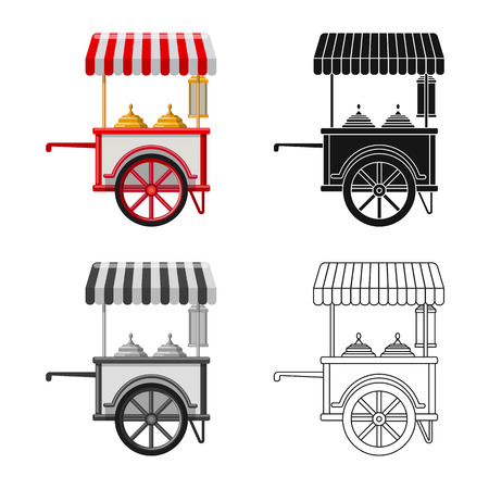 bitmap illustration of market and exterior logo. Collection of market and food stock bitmap illustration.