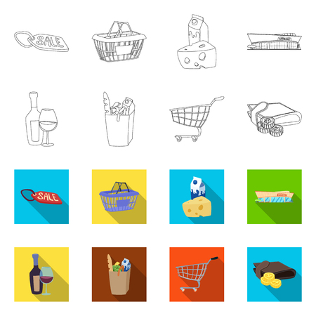 bitmap illustration of food and drink sign. Set of food and store bitmap icon for stock. Stock Photo