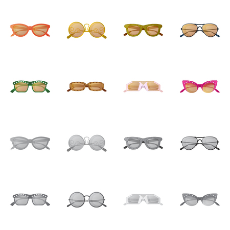9b67cf4c772ba9 Vector illustration of glasses and sunglasses icon. Set of glasses and  accessory stock vector illustration