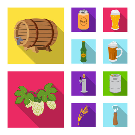 Vector illustration of pub and bar logo. Collection of pub and interior vector icon for stock.  イラスト・ベクター素材