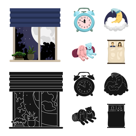 Vector design of dreams and night sign. Collection of dreams and bedroom vector icon for stock. Illustration