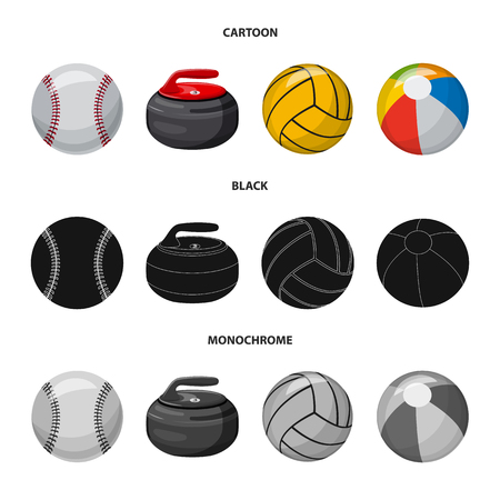 Isolated object of sport and ball symbol. Collection of sport and athletic vector icon for stock.