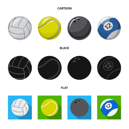 Isolated object of sport and ball sign. Set of sport and athletic vector icon for stock.